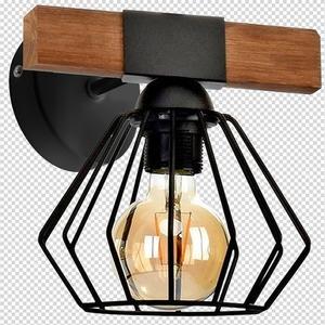 Nástěnná lampa Ulf černá / dřevo 1x E27 60 W small 7