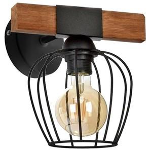 Nástěnné svítidlo Ozzy Black / Wood 1x E27 60 W small 1