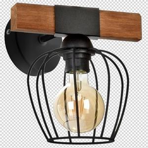 Nástěnné svítidlo Ozzy Black / Wood 1x E27 60 W small 7