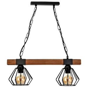 Závěsná lampa Ulf Black / Wood 2x E27 60 W small 1
