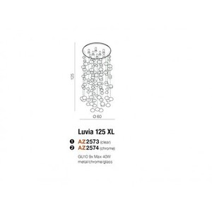 Stropní svítidlo Azzardo LUVIA XL AZ3073 small 1