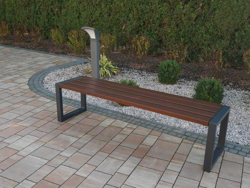 Moderní zahradní lavička