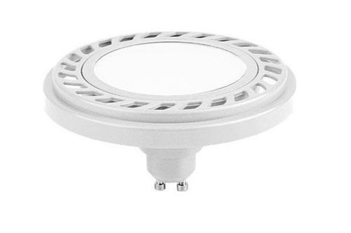 ES111 gu10 15 LED žárovka 8,9 W 230 V AC W / NW úhel 120 stupňů neutrální bílá AR111 bílá skříň LUX07012