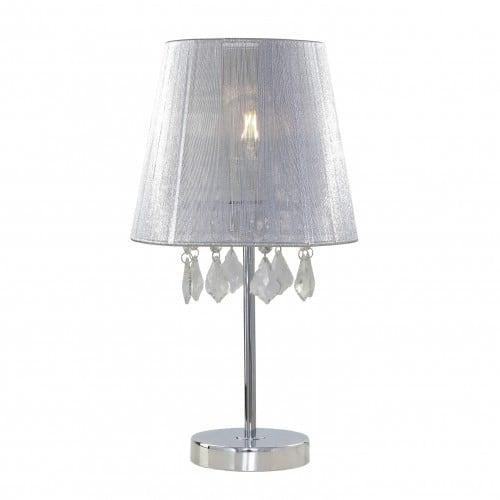 Stolní lampa malé světlé Glamour s diamanty