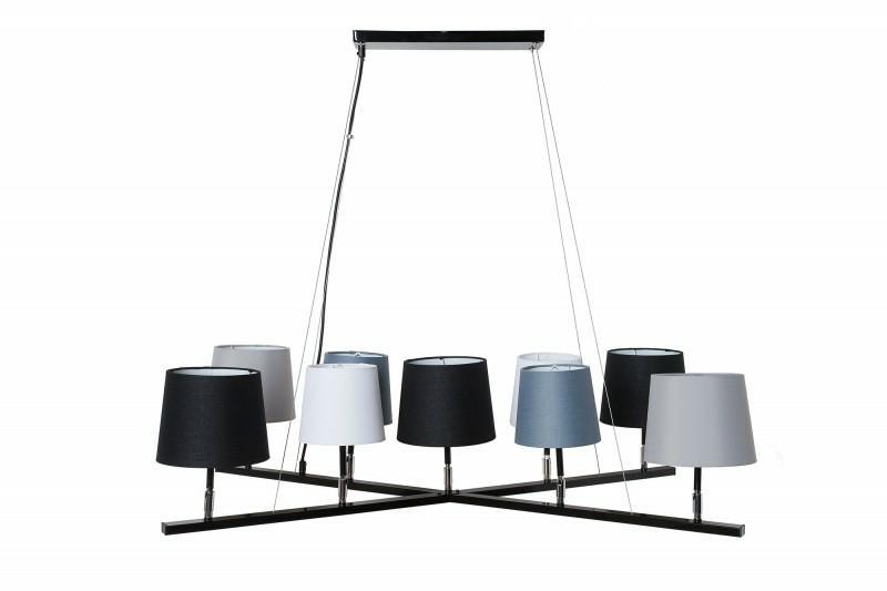 Závěsná lampa INVICTA LEVELS 2 - šedo-černo-bílá