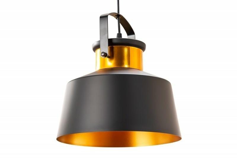 Závěsná lampa INVICTA LUZ I - 28 cm černá a zlatá