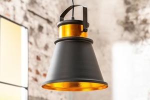 Závěsná lampa INVICTA LUZ II - 25 cm černá a zlatá small 0