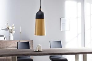 Závěsná lampa INVICTA MODERN CHICK - černá a zlatá small 2