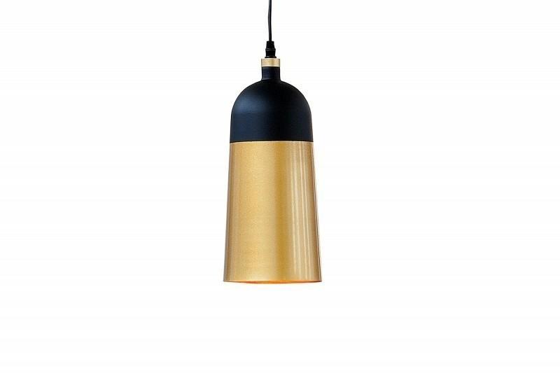 Závěsná lampa INVICTA MODERN CHICK - černá a zlatá