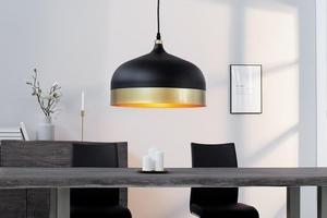 Závěsná lampa INVICTA MODERN CHICK II - černá a zlatá small 3