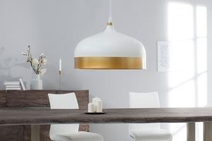 Závěsná lampa INVICTA MODERN CHICK II - bílá a zlatá small 2