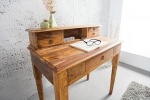Psací stůl INVICTA HEMINGWAY 90 cm - dřevo sheesham small 1