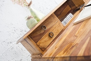 Psací stůl INVICTA HEMINGWAY 90 cm - dřevo sheesham small 3