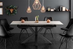 Stůl INVICTA ETERNITY 180-225 beton - sklo, nerezová ocel small 2