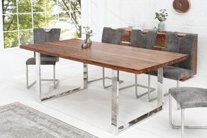 INVICTA stůl FIRE & EARTH 160 sheesham - přírodní dřevo, nerezová ocel small 2