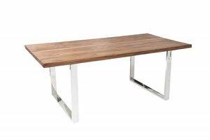 INVICTA stůl FIRE & EARTH 160 sheesham - přírodní dřevo, nerezová ocel small 0