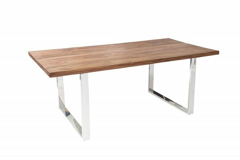 INVICTA stůl FIRE & EARTH 160 sheesham - přírodní dřevo, nerezová ocel