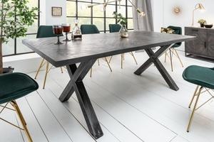 INVICTA stůl INFINITY HOME 160 cm šedá - mango, přírodní dřevo, kov small 1