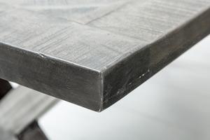 INVICTA stůl INFINITY HOME 160 cm šedá - mango, přírodní dřevo, kov small 3