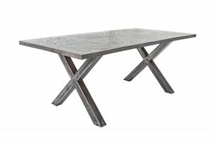 INVICTA stůl INFINITY HOME 160 cm šedá - mango, přírodní dřevo, kov small 0