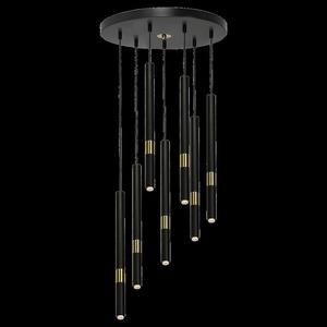 Závěsná lampa Monza Black / Gold 7x G9 8 W. small 7