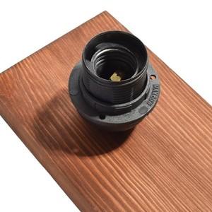 Závěsná lampa Ozzy Black / Wood 3x E27 60 W small 3