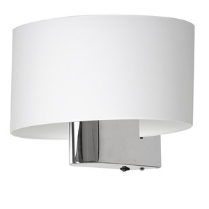 Casino White / Chrome 1x nástěnná lampa E27 small 3