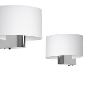 Casino White / Chrome 1x nástěnná lampa E27 small 0