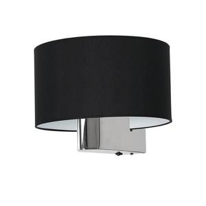 Casino Black / Chrome 1x nástěnná lampa E27 small 2