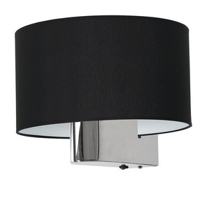 Casino Black / Chrome 1x nástěnná lampa E27 small 3
