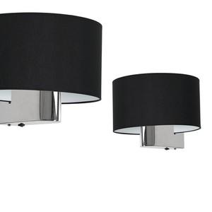 Casino Black / Chrome 1x nástěnná lampa E27 small 0