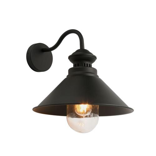 Šedá klasická nástěnná lampa Manesto E27