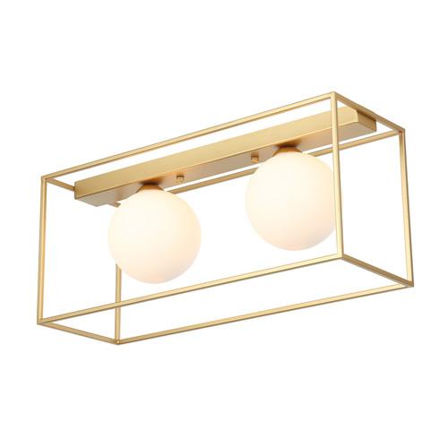 Zlaté moderní 2bodové stropní svítidlo Mediamo G9