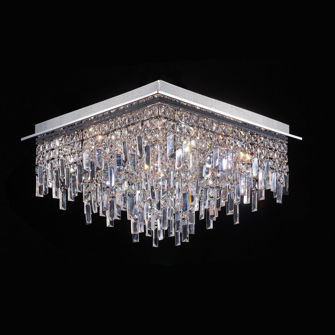 Klasické 17bodové stropní svítidlo Lavenda G4
