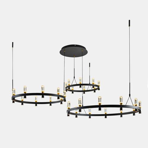 Černá závěsná lampa Almelo LED