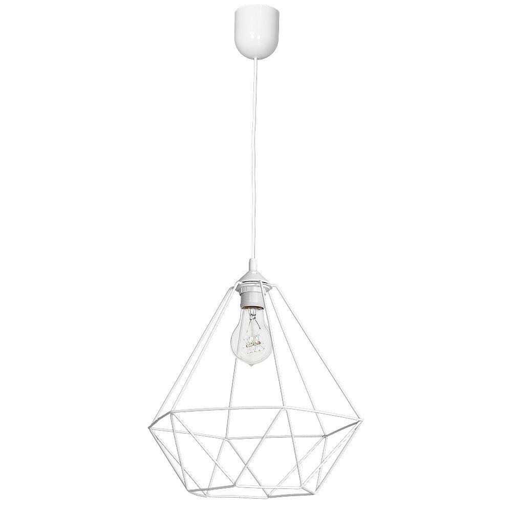 Závěsná lampa Košík Bílá 1x E27