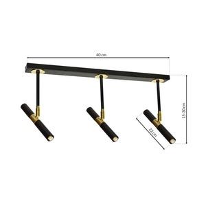 Stropní lampa Monza černá / zlatá 3x G9 8 W. small 6