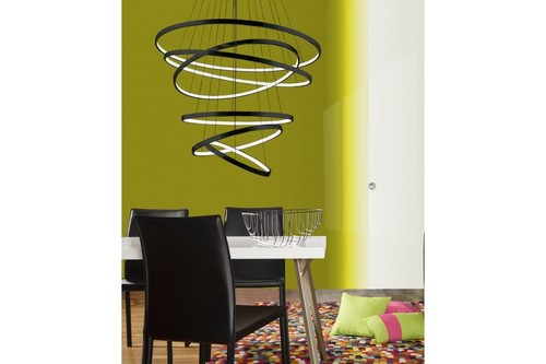 Závěsná lampa Azzardo Wheel 6 Long dimm černá AZ2923