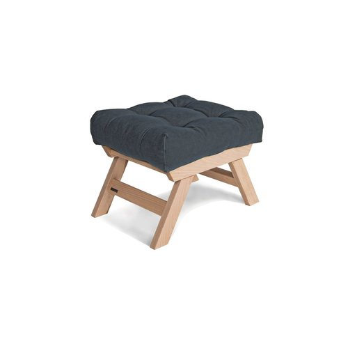Dřevěná podnožka Allegro, obláček ze surového dřeva - grafit