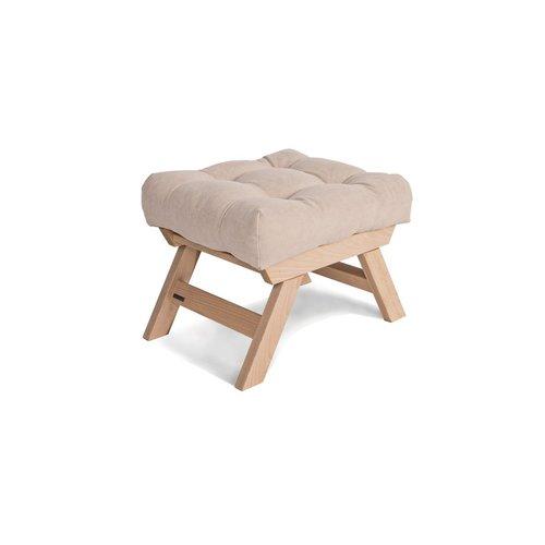 Dřevěná podnožka Allegro, tabák ze surového dřeva - krém