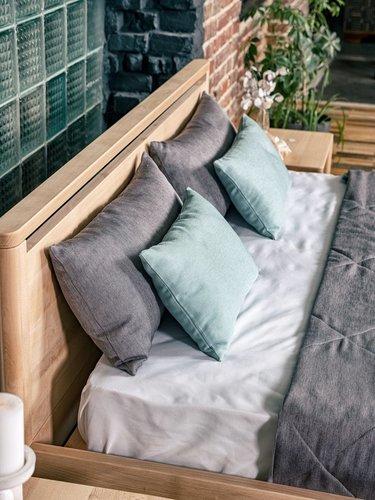Drop Hard ložnice postel 160x200 naolejované dřevo (lněný olej)