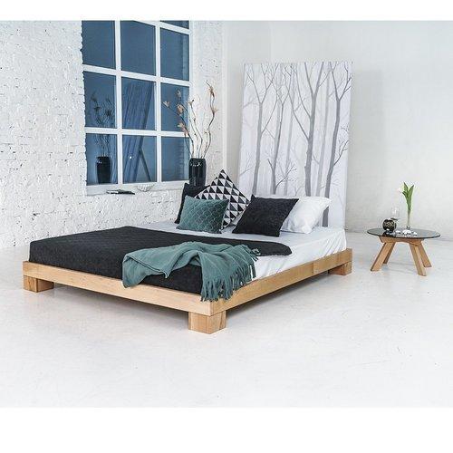 Cube manželská postel 140x200 naolejované dřevo (lněný olej)