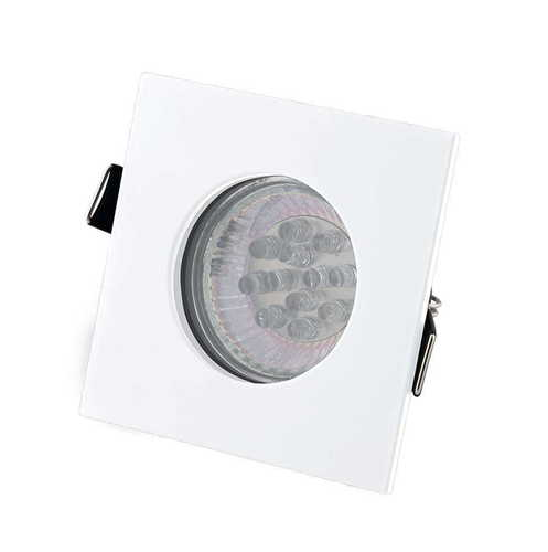SQUARE H0092 WHITE HALOGEN LUMINAIRE IP44 Max Light