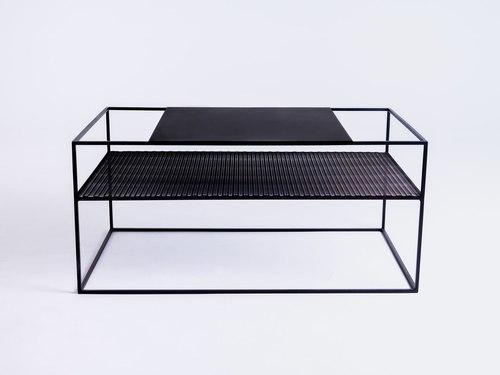 Konferenční stolek MATRIX METAL 100X60 - černý