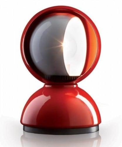 Stolní lampa Artemide ECLISSE červená