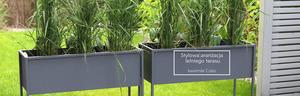 Kovový stojan na květiny CUBO černý půdní box 80x60cm small 2