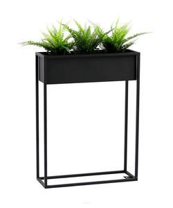 Kovový stojan na květiny CUBO černý půdní box 80x60cm small 0