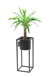 Kovový stojan na květiny s květináčem na rostliny UGO 60cm černý půdní vestavba small 0