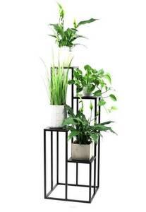 Kovový stojan na květiny pro čtyři květiny METALLO 112cm černý LOFT small 1