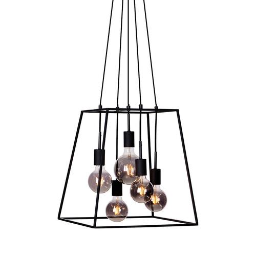 Černá závěsná lampa Almodovi